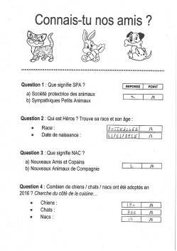 Jeu questionnaire 1